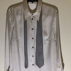 Escada Silk Blouse with contrast Tie